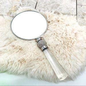 Z Gallerie Victoria Rhinestone Hand Mirror